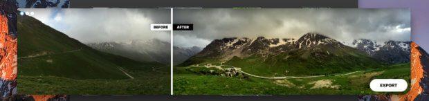 Auch Fotos, die man mit dem iPhone im Panoramamodus geknipst hat, werden von Photolemur gepimpt. Hier hat er einen Grauschleier vom Bild entfernt und die Wolken etwas aufgemöbelt. Ein sehenswertes Ergebnis, wie ich finde.