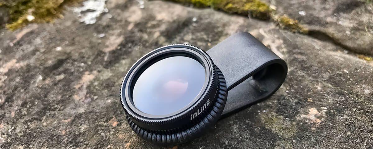 Der vordere Ring mit dem Glas ist bei dem iPhone Polarisationsfilter drehtbar, so dass man den Effekt des Filters kontrollieren kann.