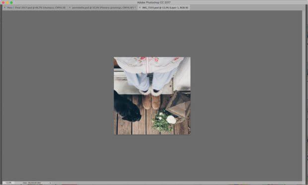 Und so sieht Photoshop aus, wenn man die Tabulatur-Taste gedrückt hat. Irgendwie fehlt einem da was, oder?!?