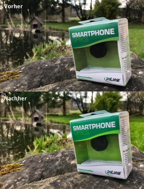 Ein Produktfoto im Vergleich. Oben das Original – fotografiert mit dem iPhone 7 Plus, das an sich schon sehr schöne Farben in Fotos macht – und unten das Ergebnis von Photolemur: es wirkt frischer, schärfer und ist innerhalb von 20 Sekunden aus Photolemur gefallen.
