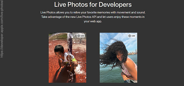 Live Photos auf einer Webseite einbauen, das geht mit der entsprechenden API von Apple: LivePhotosKit JS. Die Links zu den Skripten sowie weitere Details und Gedanken findet ihr hier.