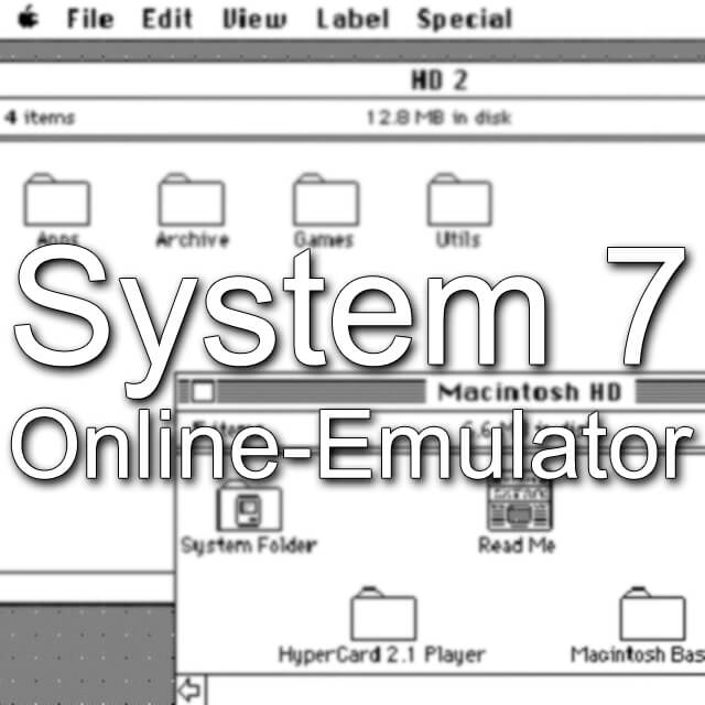 Mac System7 im Browser