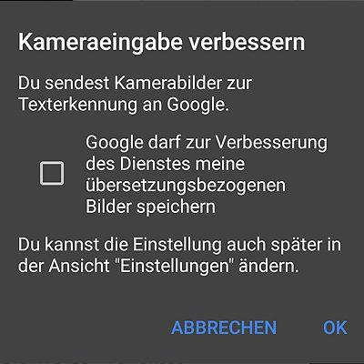 Google Übersetzer Foto