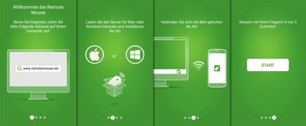 Tutorial der Remote Mouse App