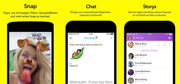 Snapchat App iOS iPhone und Android Download