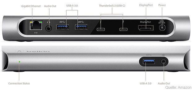 Belkin Thunderbolt 3 Express Docking Station für MacBook Pro 2017 mit Kaby Lake