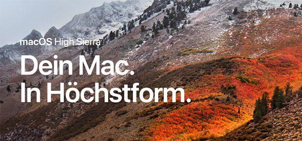 Apple Betriebssystem macOS High Sierra 10.13
