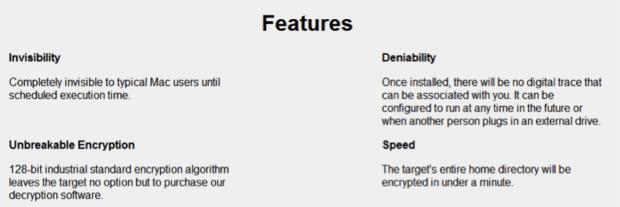 MacRansom, Ransomware für macOS, Apple