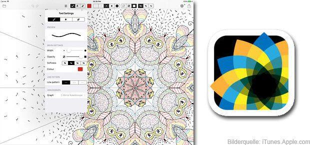 Mit der Amaziograph iPad App ist das Zeichnen von perfekt angeordneten Mustern, symmetrischen Mandalas und vielem mehr kein Problem!