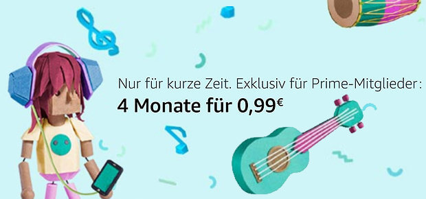 Amazon Music Unlimited Probe-Abo 2017