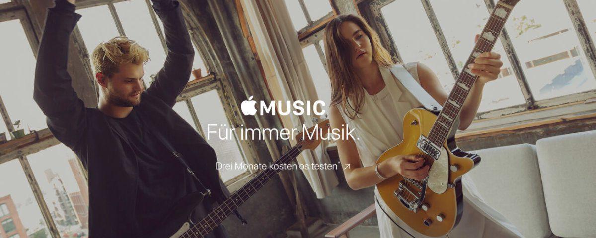 Apple Music ist der Musik-Streamingdienst von Apple, der normalerweise im Monatsturnus abgerechnet wird (Bild: Apple.com).