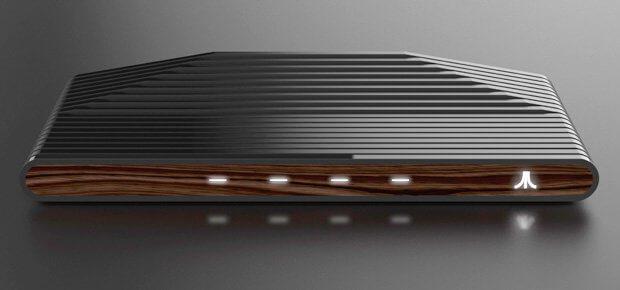 Die vier Lichter in der Mitte des Ataribox Designs könnten USB-Anschlüsse für eine umfangreiche Konnektivität sein. HDMI und SD-Slot sind wohl auf der Rückseite.