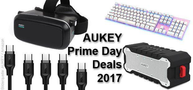 Amazon Prime Day 2017 AUKEY Angebote, Deals, Rabatte