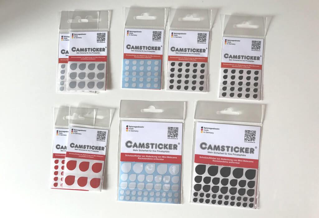 Die Sets von CAMSTICKER® bieten hauptsächliche Varianten in Farben und Größen. Bunte Muster oder nerdige Icons sind nicht der Schwerpunkt des Portfolios. Für meinen Geschmack passt das aber gut zum schlichten Design der Apple Produkte (Fotos: Sir Apfelot).
