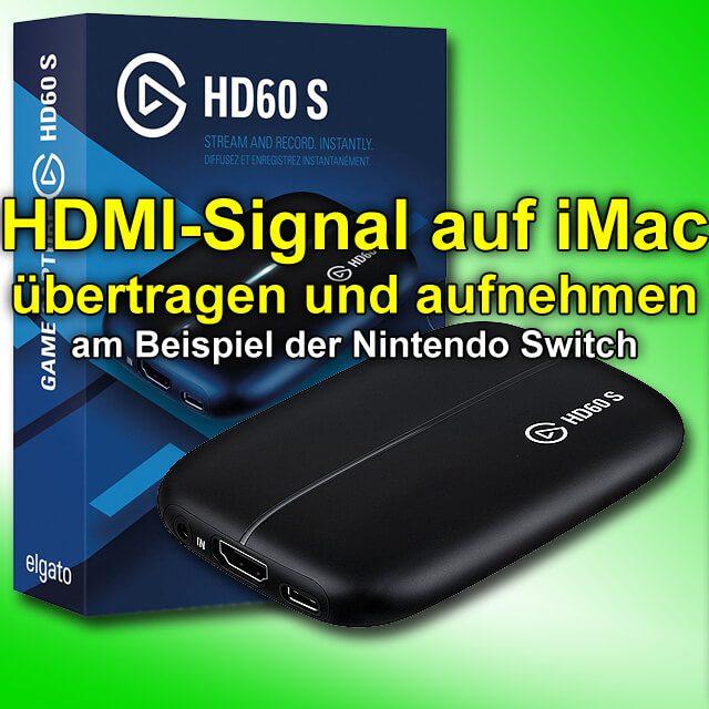 Hdmi Auf Imac Streamen Elgato Game Capture Hd60 S Mit Usb C 30