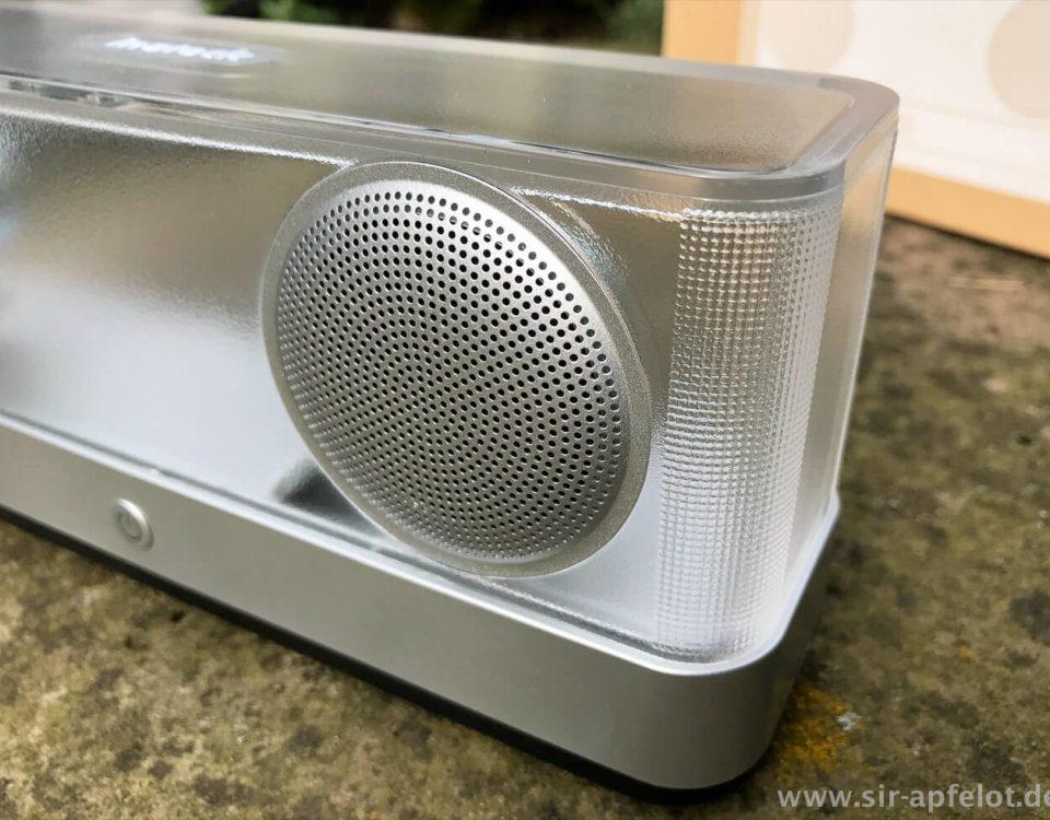 Der Inateck BP2003 hat definitiv ein aussergewöhnliches Design, das ihn schnell zum Hingucker in der Wohnung macht.