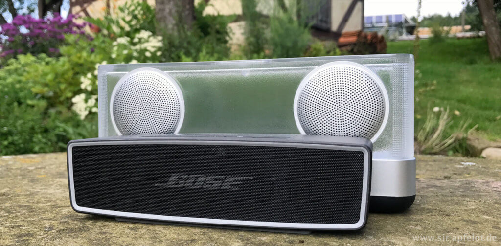 Trotz des großen Preisunterschieds muss sich der Inateck BP2003 klanglich nicht unter dem Bose SoundLink Mini 2 verstecken.