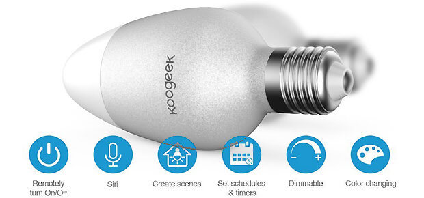 Koogeek WLAN Glühbirne E27 HomeKit Home App Android iOS