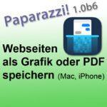 Paparazzi & Tailor: Webseiten und Chat-Verläufe als Bild oder PDF speichern (Mac, iPhone)