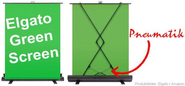 Der Elgato Green Screen ist eine einfache Lösung für alle, die per Chroma-Key den Video-Hintergrund aus ihrem Video editieren wollen. Praktischer Aufsteller mit moderner Falttechnik.