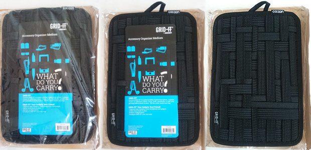 Das Cocoon GRID-IT Organisationssystem im Test: hier seht ihr das Produkt verpackt und ausgepackt.