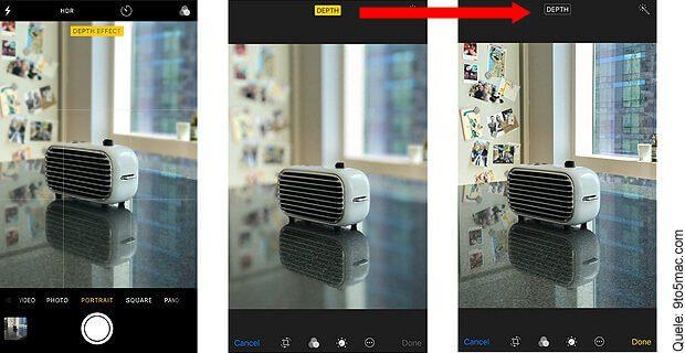 Mit dem kommenden Apple-Betriebssystem iOS 11 für iPhone und iPad könnt ihr den Portrait-Modus bei iPhone-Fotos rückgängig machen.