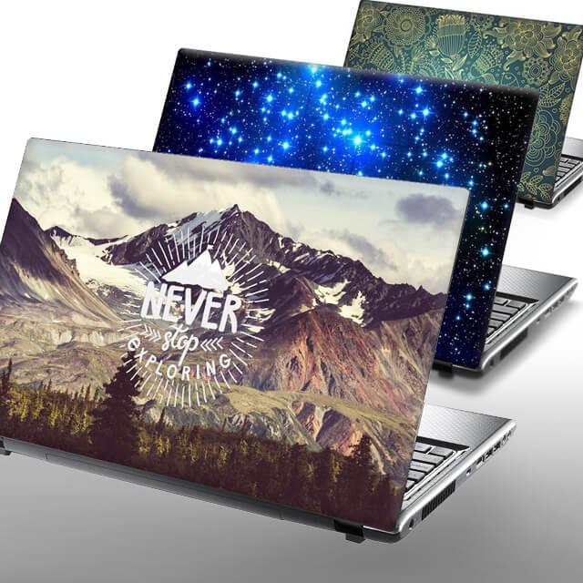Apple MacBook Skin, Apfel Logo abkleben