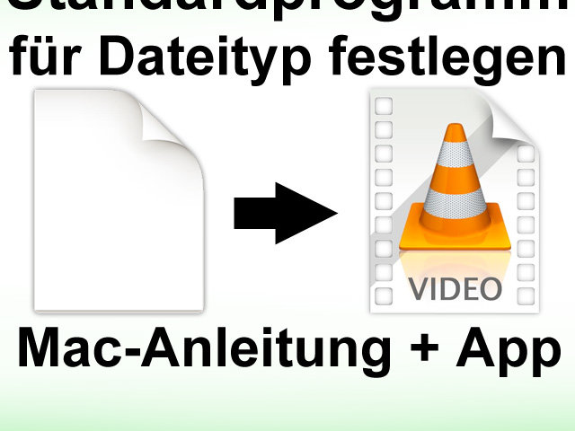 Dateitypen einer App zuweisen, Apple Mac, iMac, MacBook
