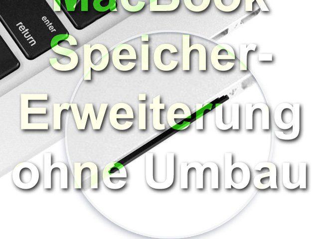 MacBooks Speicher erweitern ohne Umbau mit SD-Speicherkarte