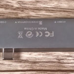 Auf der Unterseite des USB-C Mini Docks sind alle Anschlüsse nochmal aufgedruckt.