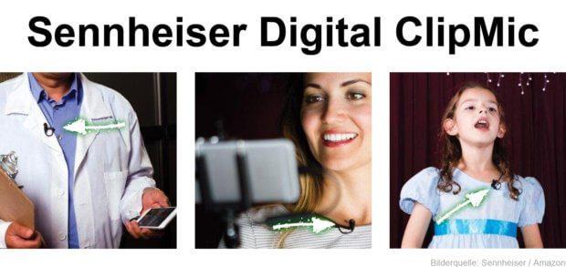 Das Sennheiser ME 2 ClipMic Digital Ansteckmikrofon könnt ihr per Lightning ans Apple iPhone, iPad oder den iPod Touch anschließen. Mit der Apogee MetaRecorder iOS-App steuert und organisiert ihr Aufnahmen ideal. Alle Infos und ein Video-Test hier im Beitrag!