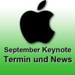 Termin der diesjährigen Apple September Keynote 2019