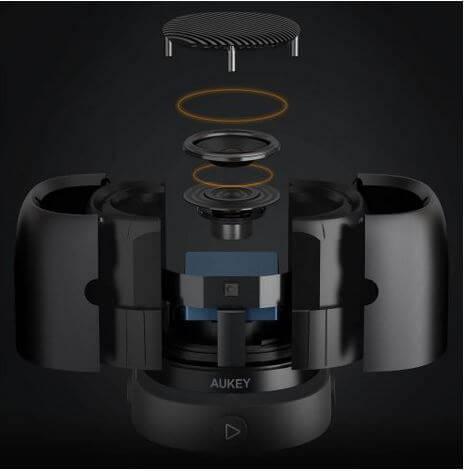 Das Innenleben des AUKEY Bluetooth Lautsprecher SK-M31. Quelle: AUKEY.com
