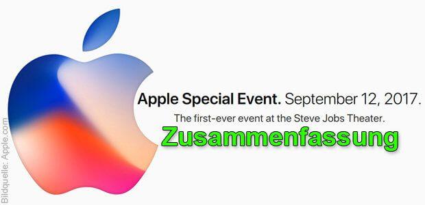 Hier bekommt die Apple September-Keynote 2017 Zusammenfassung, die ihr verdient ;) Ich habe mir das iPhone-Event angeschaut und die dortigen Aussagen mit den Angaben auf der Apple-Webseite aufgestockt sowie für euch alles zusammengefasst. iPhone X, 8 und 8 Plus, Apple Watch Series 3, Apple TV 4K und mehr!