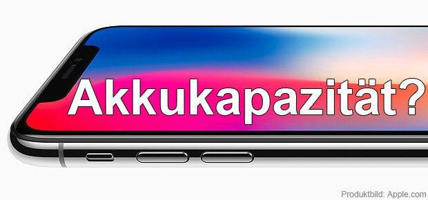 Der iPhone X Akku hat eine maximale Ladung von 2.700 mAh - die Quelle dafür und den Vergleich mit anderen Smartphones gibt's hier!