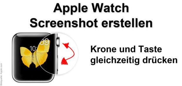 Mit der Digital Crown (Krone) und der Taste an der Seite der Apple Watch könnt ihr einen Screenshot unter watchOS erstellen. Das Bildschirmfoto wird auf dem iPhone gespeichert.