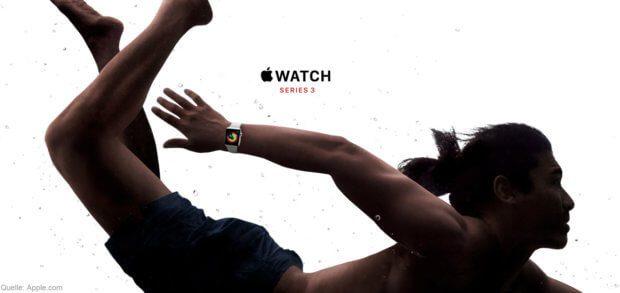 Die Apple Watch Series 3 könnt ihr wie das iPhone 8 / Plus bald vorbestellen. Daten, Features und Neuerungen in watchOS 4 sowie Preise der Modelle findet ihr hier.