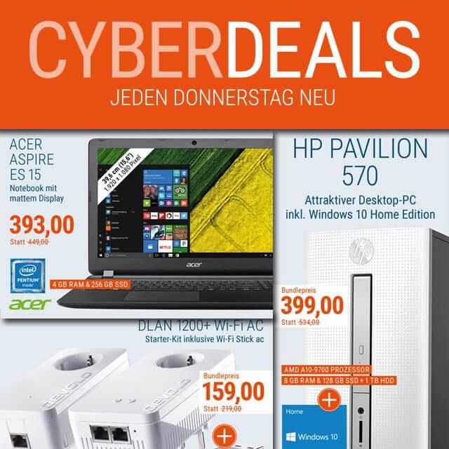 Cyber Deals, Technik günstiger, Elektronik Rabatte, Deals, Rabatt, ohne Gutschein