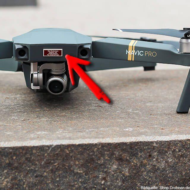 Quadrocopter Plakette kaufen Kameradrohne kennzeichnen