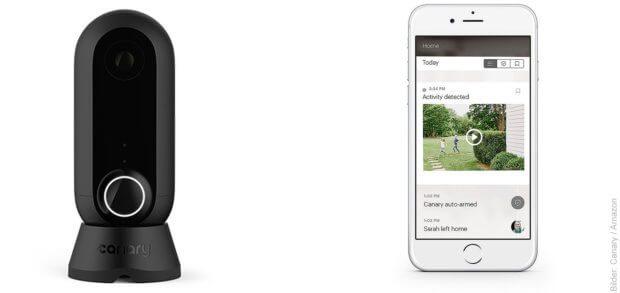 Die Canary Flex Überwachungskamera sorgt dafür, dass ihr auch mobil immer wisst, was zuhause, im Garten, im Ferienhaus oder im Kinderzimmer los ist.
