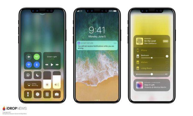 Es gibt eine Menge iPhone X Gerüchte und Leaks zu iOS 11 Golden Master, neuen AirPods, einem möglichen iPhone 8 und so weiter. Dieses Bild soll das neue Premium-Smartphone von Apple zeigen. Quelle: iDropNews