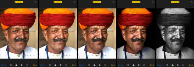 Die verschiedenen Portrait- und Portraitlicht-Modi beim iPhone 8 Plus mit iOS 11.