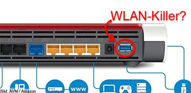 Ein USB 3.0 Gerät stört WLAN und DECT? Dann versucht, dessen Kabel zu schirmen bzw. ein besser geschirmtes Kabel zu verwenden.
