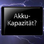 Übersicht: Akku-Kapazität (mAh) der Apple iPad Modelle