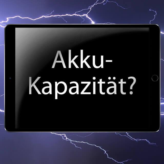 Apple Tablet Batterie Milliamperestunden