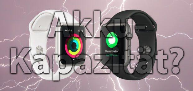 Apple Watch Akku-Nennleistung (mAh) und Akkukapazität (Wh) aller Modelle und Editionen inkl. deren Modellnummer und Größe (38 mm und 42 mm bzw. 40 mm und 44 mm) gibt's in diesem Beitrag!
