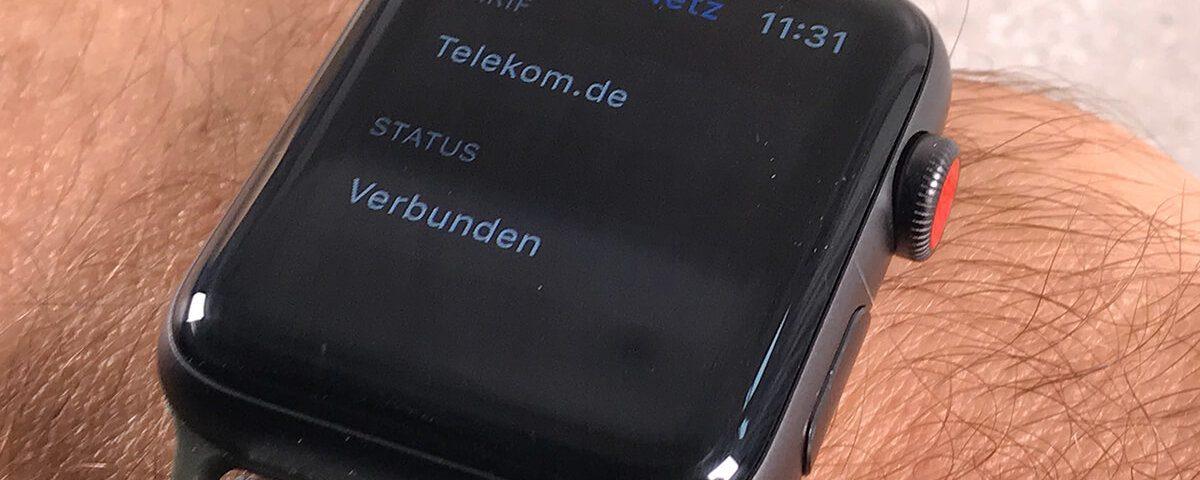 Apple Watch LTE: das mobile Datennetz läßt sich nur mit einer eSIM der Telekom aktivieren.