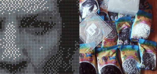 Bügelperlen Portrait Mit Hama Beads 20000 Stück