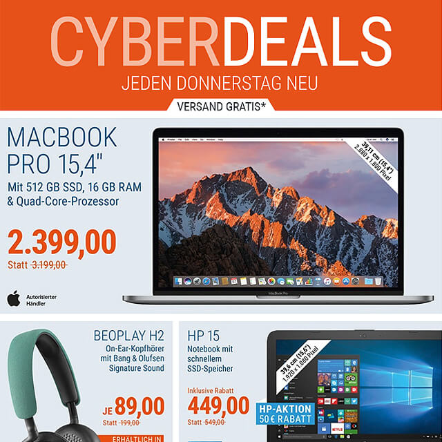 Laptops billiger, Acer, Lenovo, HP, Dell, Toshiba, Schnäppchen, Cyber Deal