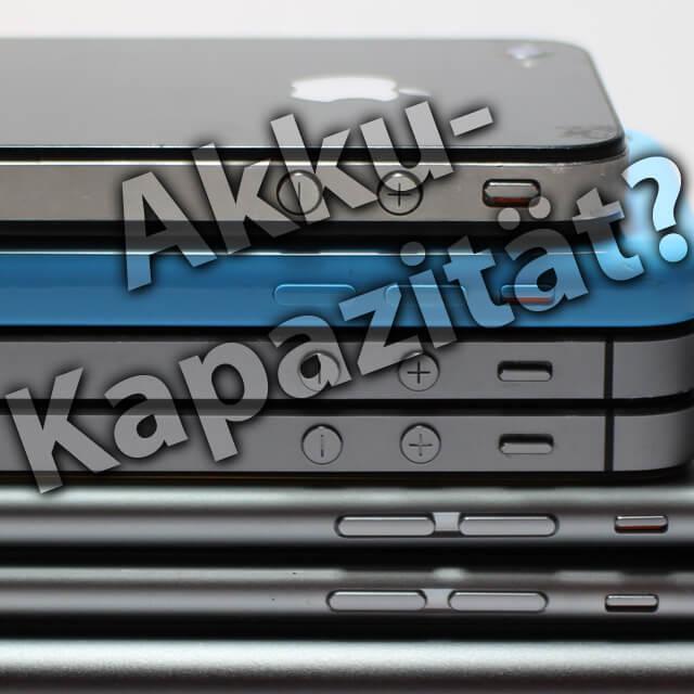 Apple Smartphone Akkukapazität Milliamperestunden